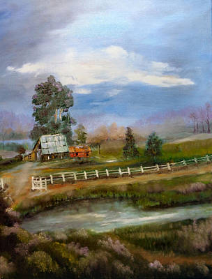 Painting - Ye Ole Barn by Arlen Avernian - Thorensen