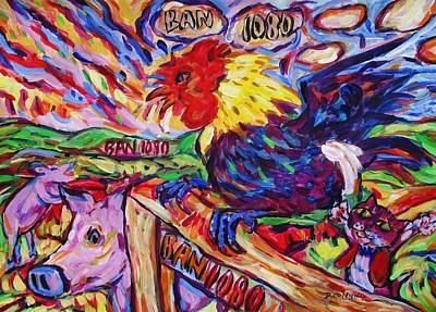 Painting - Yeah Year Of Rooster by Dianne  Connolly