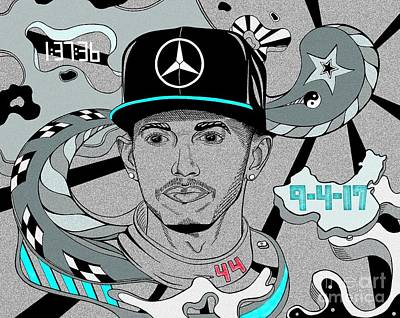 Formula One Drawing - Year Of The Amg by Adam Campbell