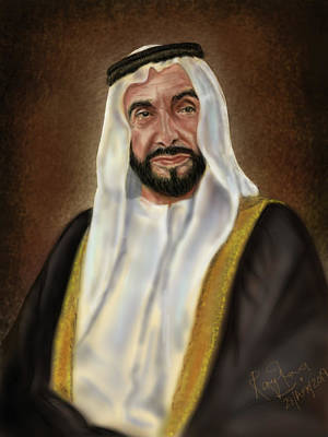 Year Of Zayed Portrait Release 2018 Art Print by Remy Francis