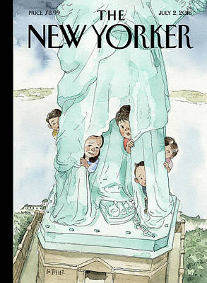 Drawing - Yearning To Breathe Free by Barry Blitt