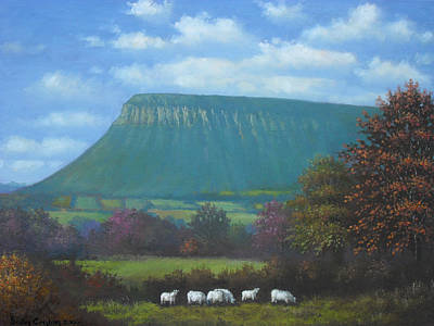 Yeats Country With Benbulben Art Print by Sean Conlon