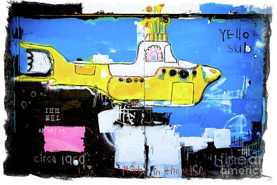 Photograph - Yello Sub Graffiti by Colleen Kammerer