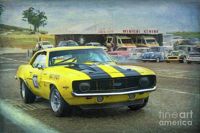 Photograph - Yellow 1969 Z28 Camaro by Stuart Row
