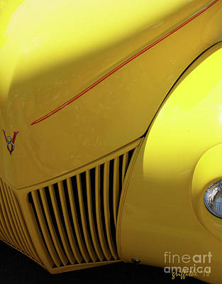Photograph - Yellow 39 Ford by Tom Griffithe