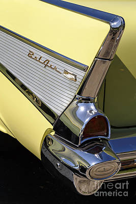 Photograph - Yellow '57 Belair by Dennis Hedberg
