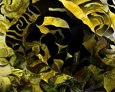 Digital Art - Yellow Abstract 050416 by David Lane