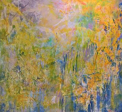 Painting - Yellow Abstract by Robert Anderson