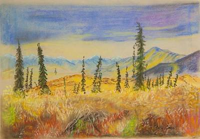 Pastel - Yellow Alaska by Betsy Carlson Cross
