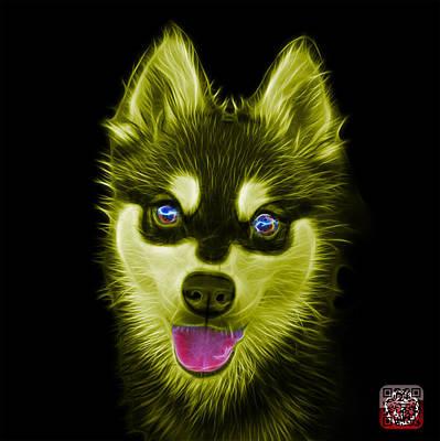 Painting - Yellow Alaskan Klee Kai - 6029 -bb by James Ahn