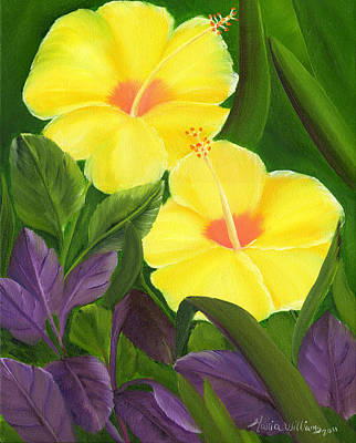 Painting - Yellow Amapolas by Maria Williams