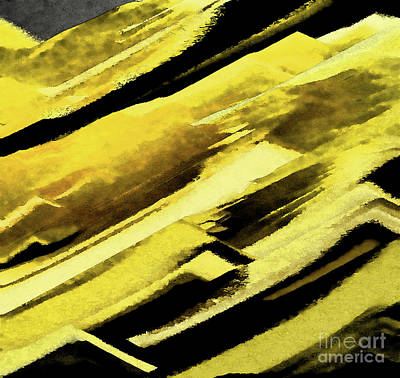 Digital Art - Yellow And Black by Diana Mary Sharpton