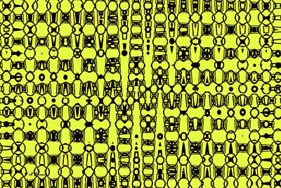 Digital Art - Yellow And Black Panel Abstract by Tom Janca