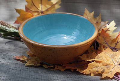 Ceramic Art - Yellow And Blue Bowl by Suzanne Gaff