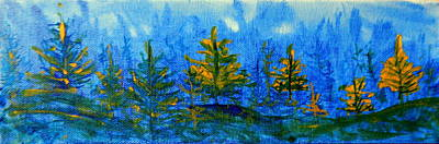 Painting - Yellow And Blue Make Green by Betty-Anne McDonald