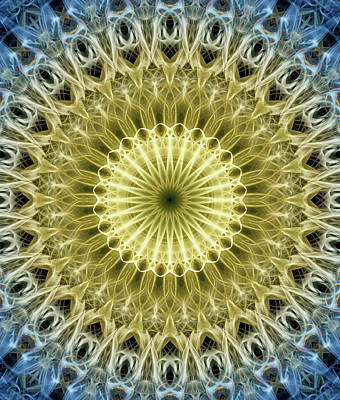 Photograph - Yellow And Blue Mandala by Jaroslaw Blaminsky