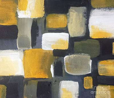 Wall Art - Painting - Yellow And Gray - Abstract by Vesna Antic