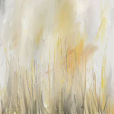 Painting - Yellow And Gray Modern Wall Art by Lourry Legarde