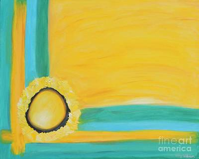 Abstract Oil Painting - Yellow And Green by Amy Wilkinson