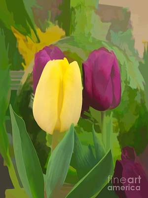 Photograph - Yellow And Purple Tuilps by Luther Fine Art