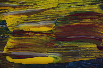 Red Abstract Photograph - Yellow And Red Horizonal Abstract by Jeff Swan