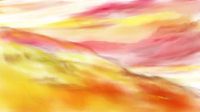 Digital Art - Yellow And Red Landscape by David Lane