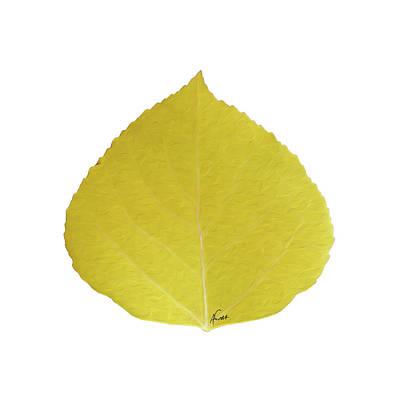Digital Art - Yellow Aspen Leaf 5 by Agustin Goba
