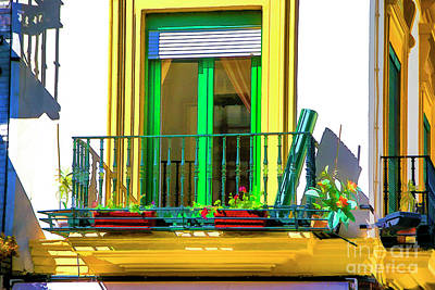 Photograph - Yellow Balcony by Rick Bragan