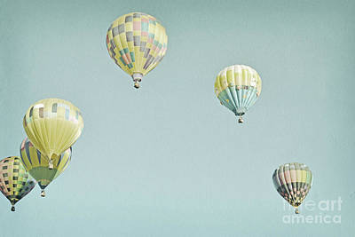Photograph - Yellow Balloons Sky by Andrea Hazel Ihlefeld