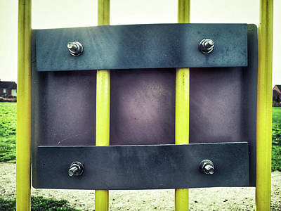 Yellow Bars Close Up  Art Print