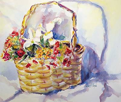 Yellow Primrose Painting - Yellow Basket  by Jean Costa