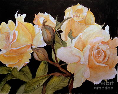 Painting - Yellow Beauties In Garden by Carol Grimes
