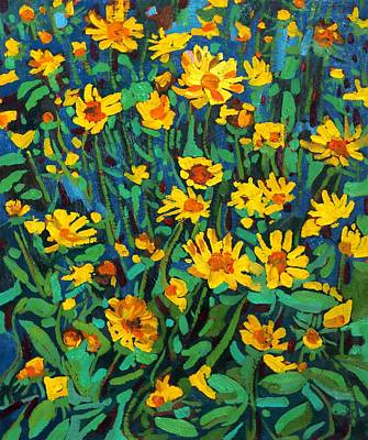 Painting - Yellow Beauties by Phil Chadwick