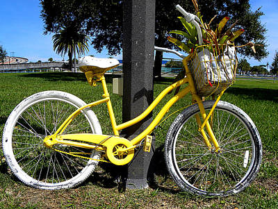 Pucker Up - Yellow Bicycle by Chris Mercer
