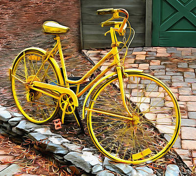 Photograph - Yellow Bicycle Detail  by Floyd Snyder