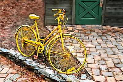 Photograph - Yellow Bicycle  by Floyd Snyder