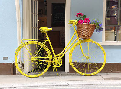 Photograph - Yellow Bicycle by Tom Conway
