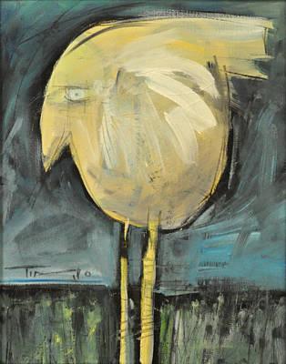 Yellow Bird In Field Art Print by Tim Nyberg