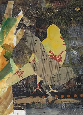 Mixed Media - Yellow Bird by Jillian Goldberg