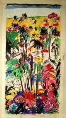 Drawing - Yellow Bird by Mykul Anjelo