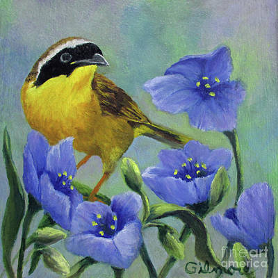 Painting - Yellow Bird by Roseann Gilmore