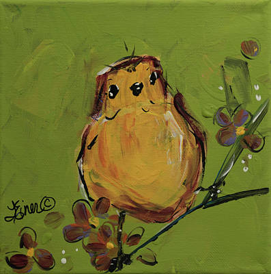 Painting - Yellow Bird by Terri Einer