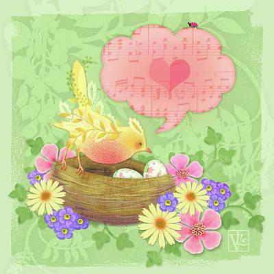 Yellow Bird's Love Song Art Print