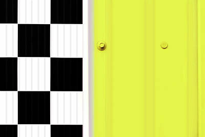 Photograph - Yellow, Black, And White - Abstract by Nikolyn McDonald