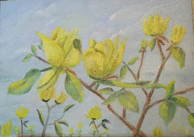 Painting - Yellow Blossoms by Charles Ray