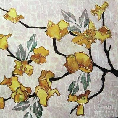 Painting - Yellow Blossoms by Diane Marcotte