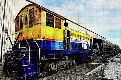 Yellow/blue Birmingham Art Print