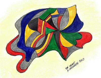 Drawing - Yellow  Blue  Red by Paul Meinerth