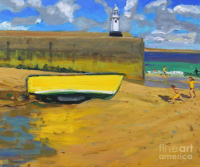 Yellow Boat, St Ives  Art Print