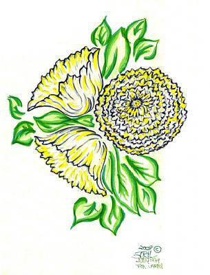 Yellow Bouquet Art Print by Judith Herbert